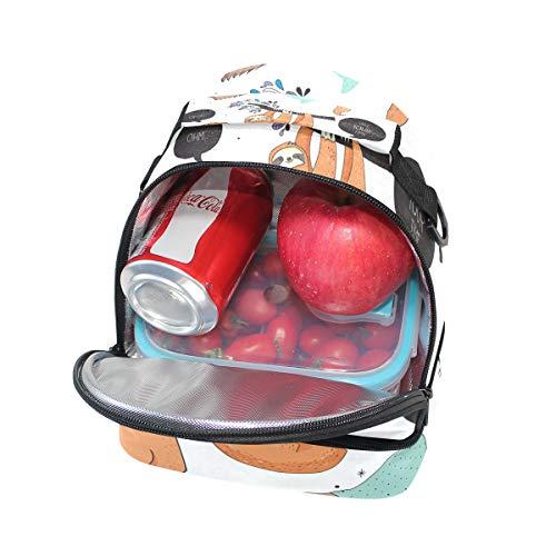 paresseux réglable mignon pour isolé prendre lunch l'école votre Alinlo à temps bandoulière Box Sac Tote à Pincnic avec 15qOOw