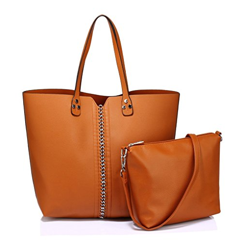 Two SHOULDER Work Large BAG LeahWard Bags In School For College One Shopper BROWN Women's 178 OnxEfnBwS1