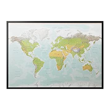 Amazon ikea bjorksta picture with black color frame planet ikea bjorksta picture with black color frame planet earth map 49178049 gumiabroncs Gallery