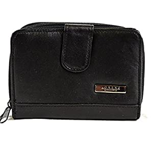 Ladies Super Soft Nappa Leather Bi-Fold Purse with Multiple Compartments and Slots