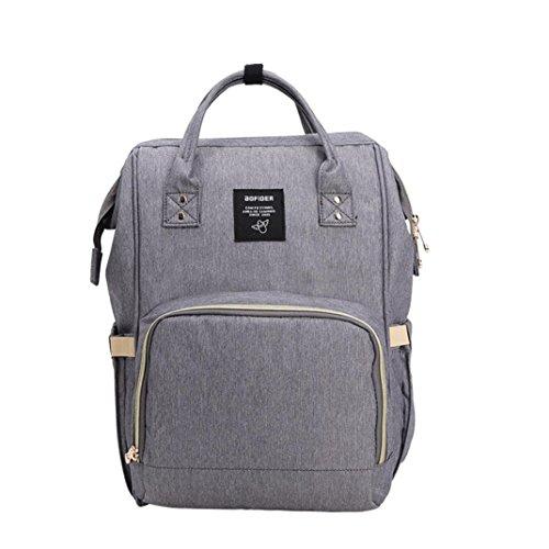 Respctful Waterproof Travelling Simple Style Backpack Diaper Bags for Women (Dark Gray) by Respctful
