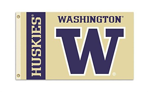 Washington Huskies College Sports Fan Premium Team Logo 3'x5' Flag Banner