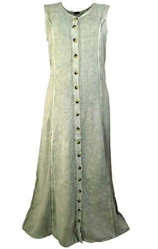 Kleid Alternative Hippie Kleider Synthetisch Guru Beige Midi Besticktes amp; Indisches Damen Bekleidung Lange Shop P1qxanItR