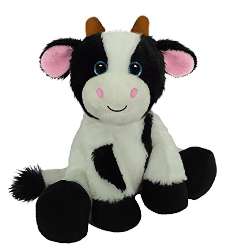 First & Main 7803 Sitting Floppy Friends Cow Plush Toy, 7