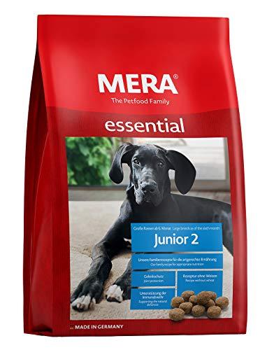 MERA essential Hundefutter > Junior 2 < Für Junghunde großer Hunderassen ab dem 6. Monat – Trockenfutter mit Geflügel…