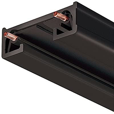 Juno Lighting 8FT BL R Series Trac-Lite Track Section, 8', Black