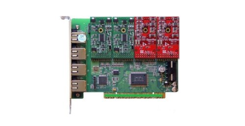 OpenVox A400P22 4 Port Analog PCI Base Card with 2 FXS and 2 - Line Card Port Analog 4
