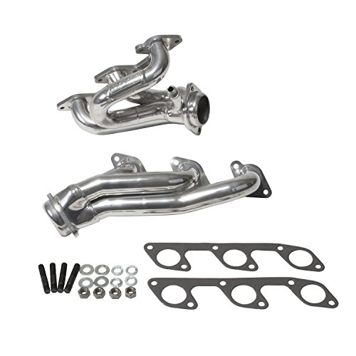 BBK 40100 1-5/8″ Shorty Tuned Length Performance Exhaust Headers for Ford Mustang 4.0L, V6 – Polished Silver Ceramic Finish