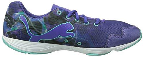 Puma FLX Graphic Wns Damen Hallenschuhe Violett (Blue Iris-white-aruba Blue 04)