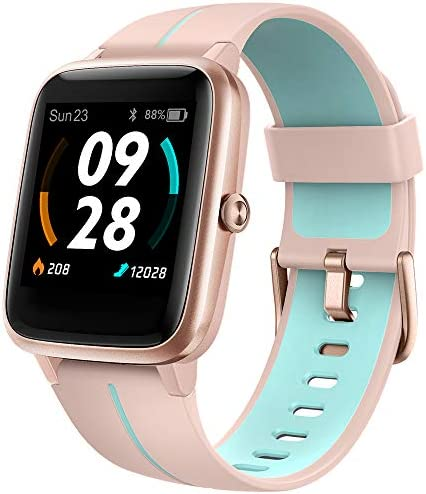 """UMIDIGI GPS Smart Watch, Activity Fitness Tracker with Heart Rate Monitor, 1.3"""" Touch Screen Pedometer Smartwatch for Mens Womens, 5ATM Waterproof Step Counter Compatible with iPhone, Samsung, Android 1"""
