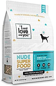 """I and love and you"" Nude Superfood Dry Dog Food - Grain Free Kibble, Prebiotics & Probiotics (V"
