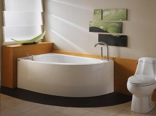 Corner Combo Air Whirlpool Tub - Neptune Wind Corner Mass-Air/Whirlpool Combo Tub-59-7/8