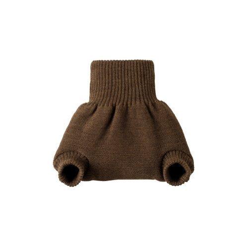 Disana merino wool baby cloth nappy diaper cover soaker (3-6 mo, Brown) by Disana