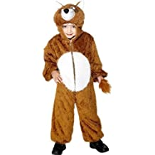 Fancy Me Girls Boys Brown Fantastic Mr Fox Jumpsuit Onesie Animal Book Day Fancy Dress Up Costume Outfit Age 7-9 years