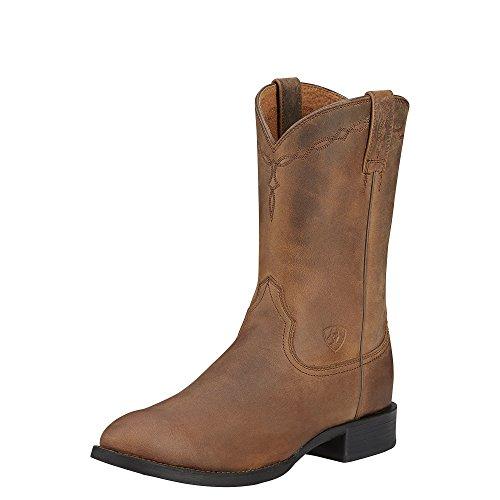 Ariat Men's Heritage Roper Western Cowboy Boot, Distressed Brown, 12 D US