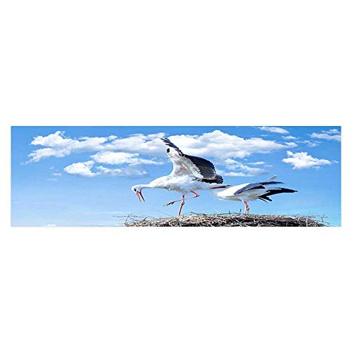 - Leighhome Fish Tank Poster Aquarium Background Backdrop PVC Adhesive A Stork Spread its Wings Sticker Wallpaper Fish Tank L29.5 x H11.8