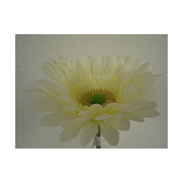 "JumpingLight 4 Stems Cream Daisy Artificial Silk Flowers 24"" Spray 1001CR Artificial Flowers Wedding Party Centerpieces Arrangements Bouquets Supplies"