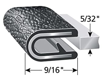 """Push-On Edge Guard for Cars 19//32/"""" Leg Length Machinery Fits 1//2/"""" Edge Easy Install Boats and More Trim-Lok Edge Trim PVC Plastic Edge Protector for Sharp and Rough Surfaces Flexible"""