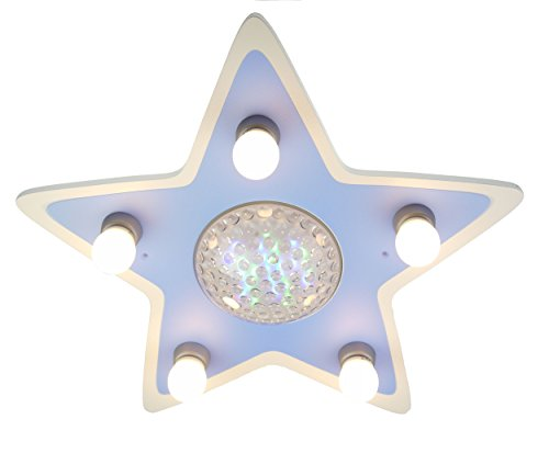 Niermann Standby Ceiling Lamp Happy Star Color Changer, White by Niermann Standby