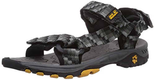 Jack Wolfskin KIDS SEVEN SEAS, Unisex-Kinder Sport- & Outdoor Sandalen, Grau (dark steel 6032), 28 EU (10 Kinder UK)