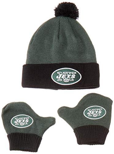 - OTS NFL New York Jets Pow Knit Cap & Mittens Set, Dark Green, Infant