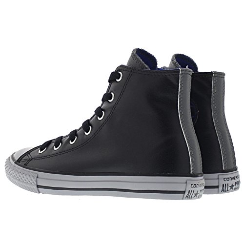 Converse Youths Chuck Taylor Hi Black Synthetic Trainers 37.5 EU
