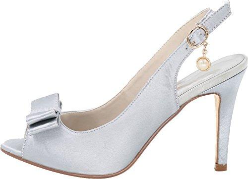 36 Argenté Find 5 Femme Nice Mules Silver 0qwgA