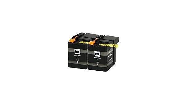 LCL LC529 LC529XL LC529XLBK (2-Pack Negro) Cartuchos de Tinta ...