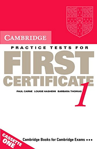 Cambridge Practice Tests for First Certificate 1 Audio Cassette Set (2 Cassettes) (FCE Practice Tests)