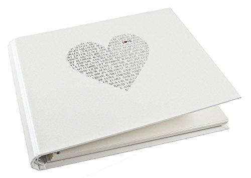 Goldbuch 47080 Gästealbum Love mit verdeckter Spirale, 50 Seiten, circa 29 x 23 cm