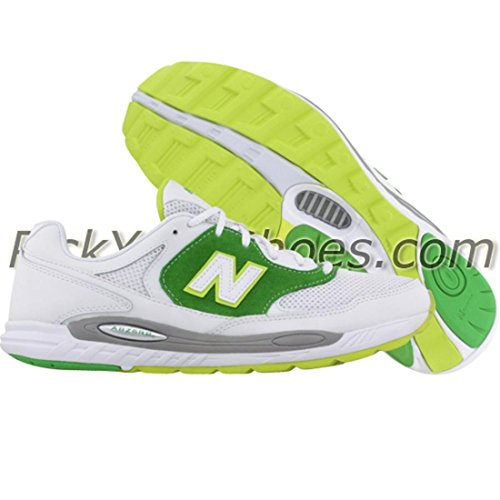 New Balance Women's WL800 Sneaker,White/Green,7.5 B