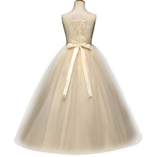 ♧Design Moderne et Chic  C est une robe très populaire cette année.  Corsage épissé en dentelle florale avec fermeture à glissière au dos 24d8ef497f4
