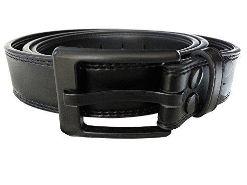 Top Grain Traveler Case Leather - Ferrer Men's Leather Metal-Free Belt: Black: 30