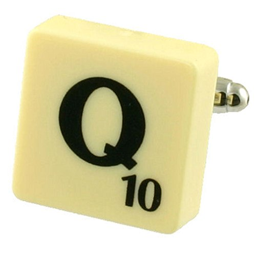 Select Gifts Letter Q Scrabble Cufflink (Buy 2 for a Cuff Links) + Black Pouch