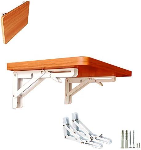 GCDW シェルフブラケット、壁掛け式テーブル、多層無垢材無塗装ボード、厚さ18mm、荷重35kg、自由に収縮、スペースを節約