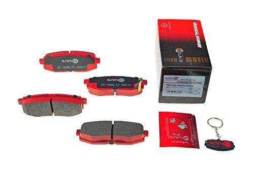 4 Pads ASIMCO USA ATD815-1710W Advanced Technology Brake Pad Service Kit