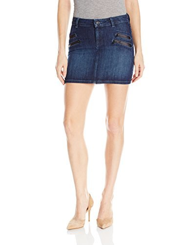 GUESS Women's Biker Mini Skirt, Blue/Black Wash, 26 (Guess Mini Skirt)