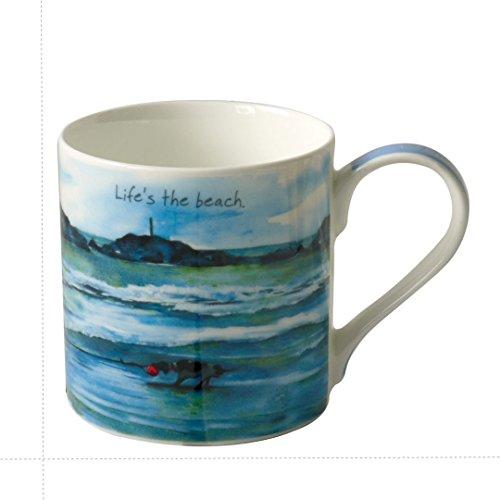- Digs & Manor Giftboxed Bone China German Pointer Mug - Beach Life 8.5cm x 8.5cm