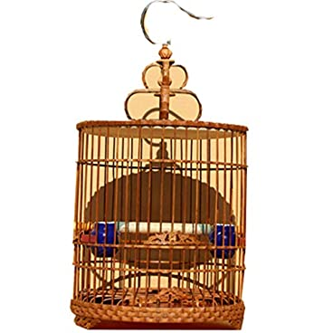DingDing Pet bird cage, bamboo cage accessories (Color : B)