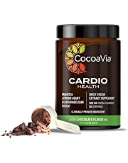 CocoaVia Cardio Health Cocoa Powder, Healthy Heart, Blood Pressure, Nitric Oxide Booster, Workout Superfood, Energy Boost, Sugar Free, Vegan, Plant Based, Dark Chocolate, 500mg Flavanols, 30 Servings