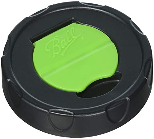 Ball Herb Shaker Plastic Lids (Pack of 6, 12-Lids)