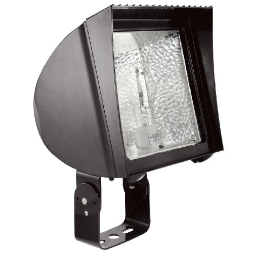 RAB Lighting FXH150TPSQ Metal Halide Flex Floodlight with Trunnion Mount, ED17 Type, Aluminum, 150W Power, 14000 Lumens, 277V, Bronze Color