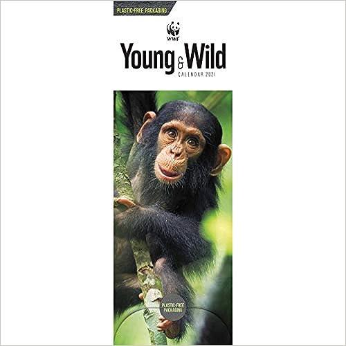 WWF Young Wild Slim Calendar 2021 Plastic Free Slim Standard