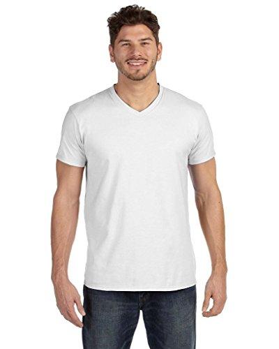 Hanes Men's Nano-T V-Neck T-Shirt - White - S