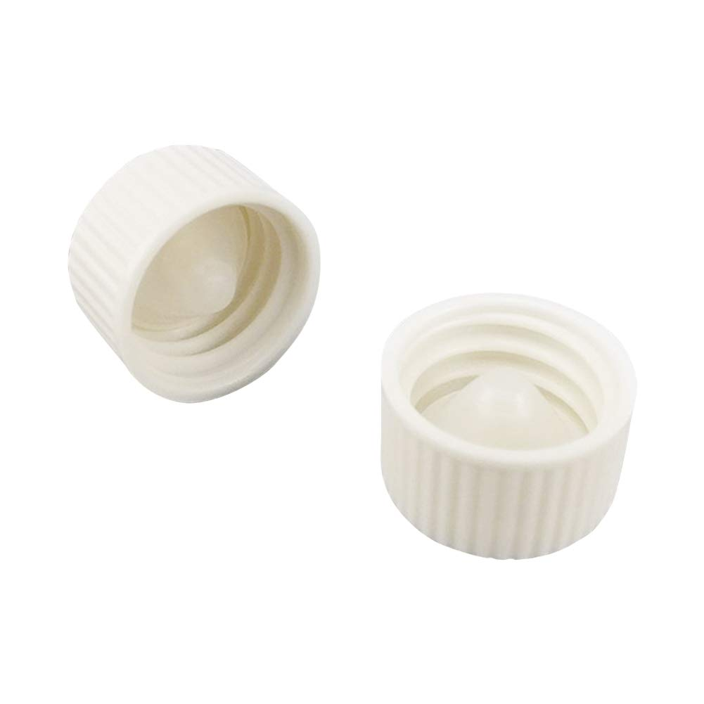 Adamas-Beta White Coded Screw Cap, Internal Molded Seal Ring,Ribbed Style Size D×H:21.2×12.0mm(Pack of 40)