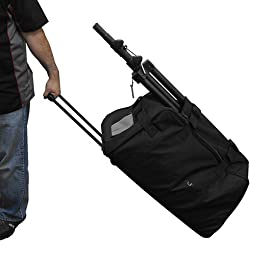 Odyssey BRLSPKLHW Series Speaker Trolley Bag with Pullout Handle and Wheels, Red