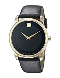 Movado Men's 0606876 Analog Display Swiss Quartz Black Watch