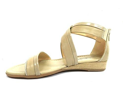 17601 SABBIA Scarpa donna sandalo Nero Giardini pelle made in italy
