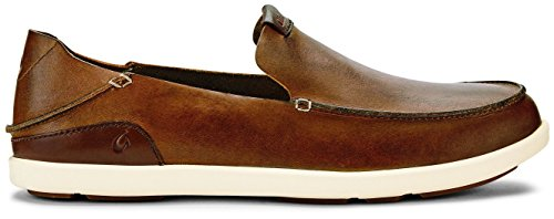 - OLUKAI Nalukai Slip-On Shoe - Men's Fox/Bone 7