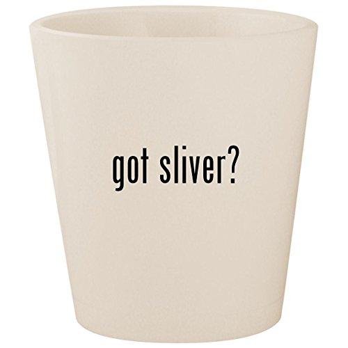 got sliver? - White Ceramic 1.5oz Shot Glass